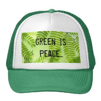 el verde, verde es paz… gorros
