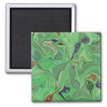 El verde vetea el imán pintado del arte abstracto