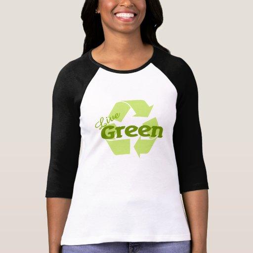 el verde vivo recicla camiseta