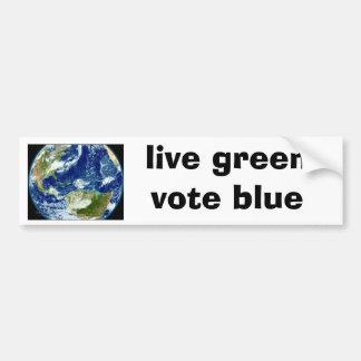 """el """"verde vivo, vota"""" a la pegatina para el parach pegatina para auto"""