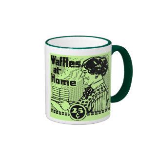 "El verde ""WAFFLES"" taza de café"