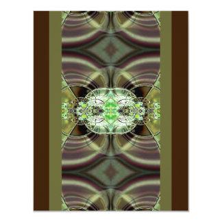 El verde y Brown Razzle deslumbran la invitación