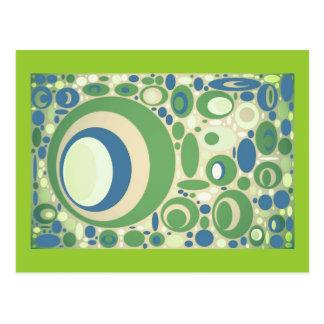 El verde y el azul de guisante circunda, las tarje postales