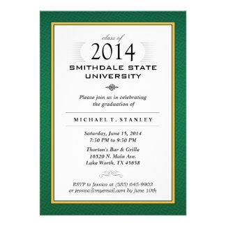El verde y la fiesta de graduación formal del oro  comunicado