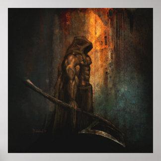 El verdugo - impresión del arte de la fantasía póster