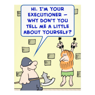 el verdugo me dice un poco sobre sí mismo tarjeta publicitaria