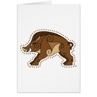 El verraco céltico tarjeta de felicitación
