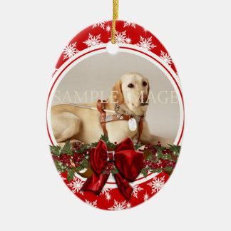 El verso conmemorativo de la foto del mascota PERS Adornos De Navidad