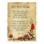 El verso de la biblia, 41:10 de Isaías, no teme, a Tarjetas Postales