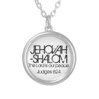 El verso de la biblia de JEHOVAH-SHALOM juzga 6:24 Colgantes Personalizados