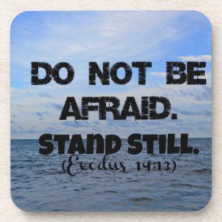 El verso de la biblia del éxodo no tiene miedo. Co Posavasos De Bebida