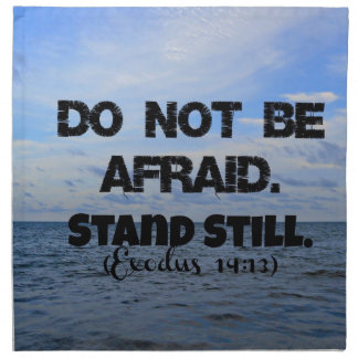 El verso de la biblia del éxodo no tiene miedo. Co Servilletas Imprimidas