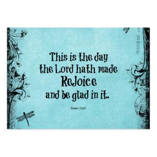 El verso de la biblia esto es el día que el hath tarjetas de visita grandes
