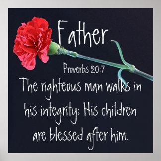 El verso honrado de la biblia del hombre para el d póster