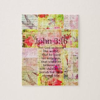 El verso inspirado de la biblia del 3:16 de Juan r Puzzles