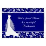 El vestido de boda, damasco en azul real le agrade felicitaciones