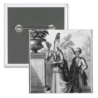 El vestido de la mujer noble, fin del siglo XVII Pin Cuadrada 5 Cm