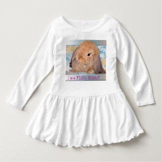 El vestido de la niña espigada del conejito del polera