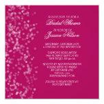 El vestido floral rosado de lujo de la novia invitación 13,3 cm x 13,3cm