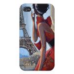 El vestido rojo, torre Eiffel, nos dejó va iPhone 4 Funda