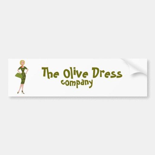El vestido verde oliva pegatina para auto