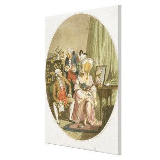 El vestuario francés, grabado por P.W. Tomkins Impresión En Lienzo