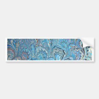 El vetear azul del agua de los pies de la rana pegatina para auto