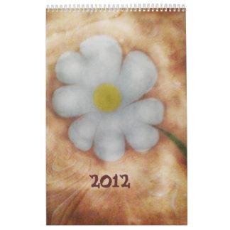 El vetear del calendario de la margarita 2012 del