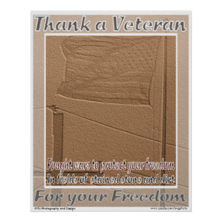 El veterano de guerras extranjeras le agradece imp póster