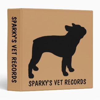 """El veterinario de encargo del perro de Boston Carpeta 1 1/2"""""""