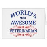 El veterinario más impresionante del mundo tarjetón