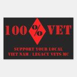El veterinario Nam/herencia de la ayuda del Pegatina Rectangular