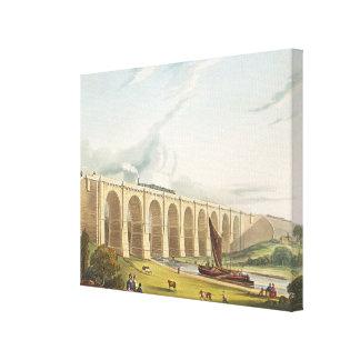 El viaducto a través del valle de Sankey, platea 4 Impresion En Lona