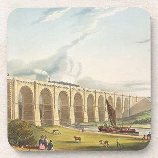 El viaducto a través del valle de Sankey, platea 4 Posavasos De Bebida