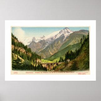El viaducto Mont Blanc del ferrocarril de Chamonix Posters