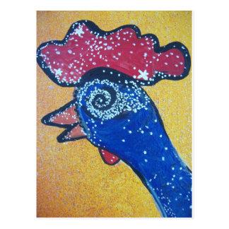 El viajar a la galaxia de la cabeza del pollo tarjetas postales