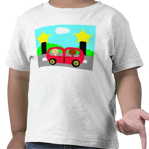 El viajar abajo del camino camiseta