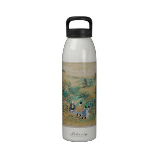 El viajar al este de Sumiyoshi Jokei Botella De Agua Reutilizable