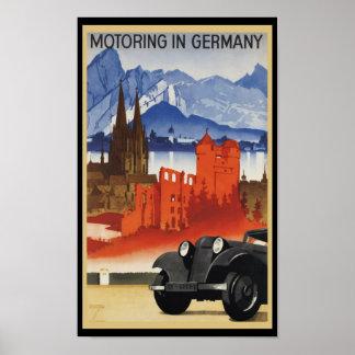 El viajar en automóvili en Alemania Posters