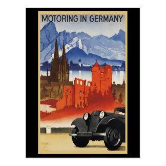 El viajar en automóvili en Alemania Tarjeta Postal