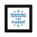 El viajar es el más grande caja de recuerdo