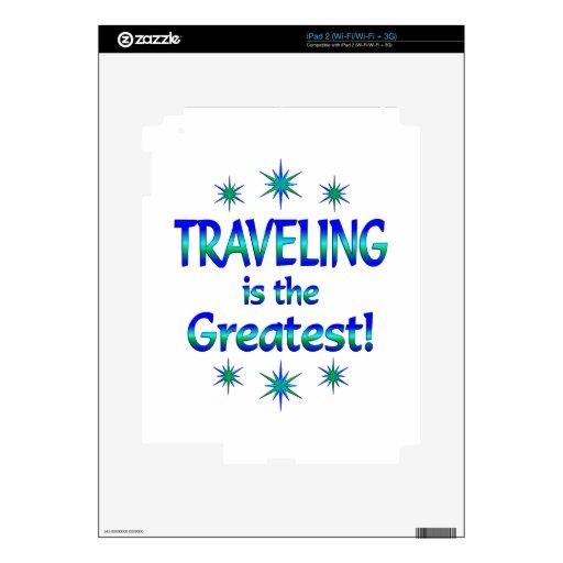 El viajar es el más grande calcomanía para el iPad 2