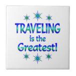 El viajar es el más grande tejas  ceramicas