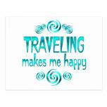 El viajar me hace feliz postales
