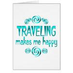El viajar me hace feliz tarjetón