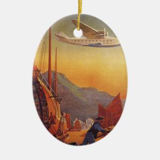 El viajar plano del vintage el vacaciones en el Or