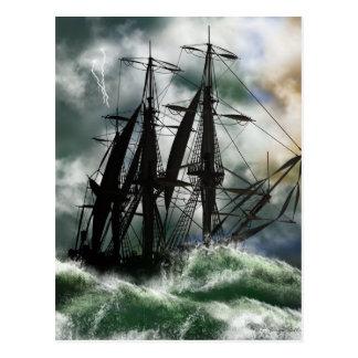 El viaje - Columbus que navega el océano Postales