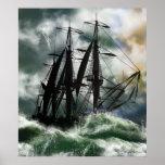 El viaje - Columbus que navega el océano Poster