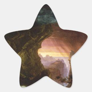 El viaje de la vida: Col de Thomas de la edad Pegatina En Forma De Estrella