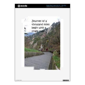 El viaje de mil millas comienza con solo paso iPad 3 pegatinas skins